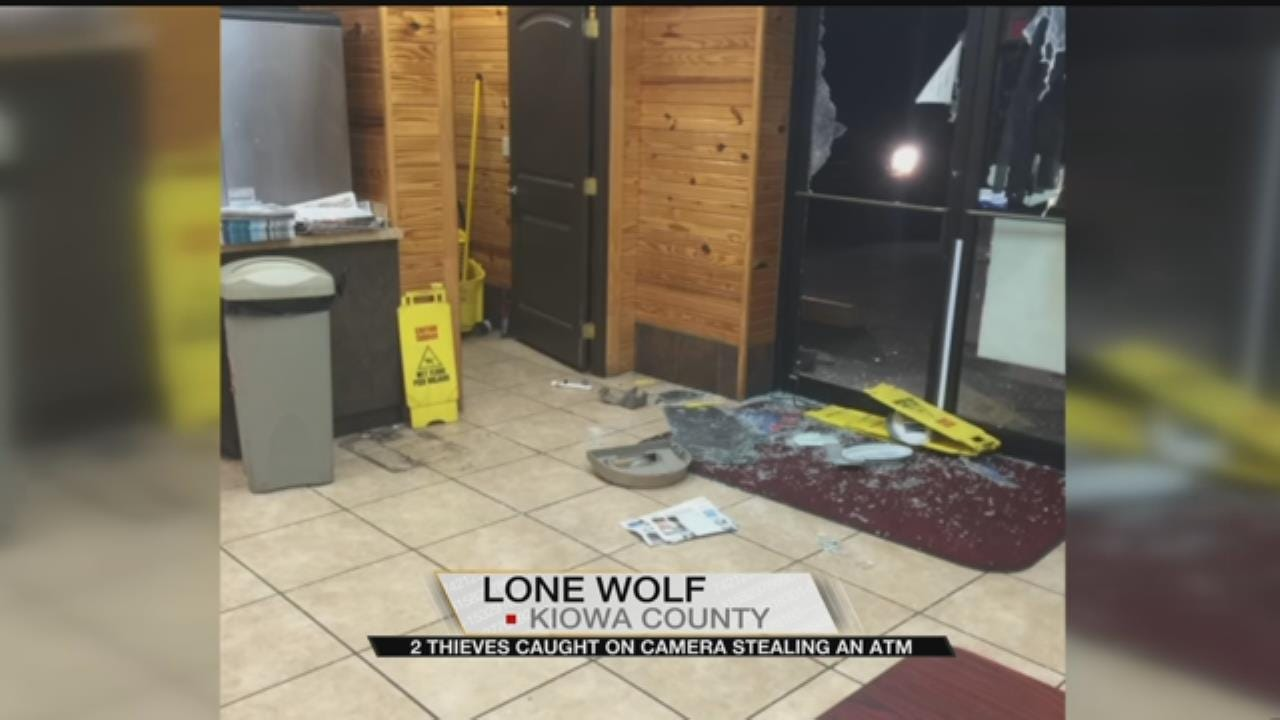 Thieves Caught On Camera Stealing An ATM In Lone Wolf