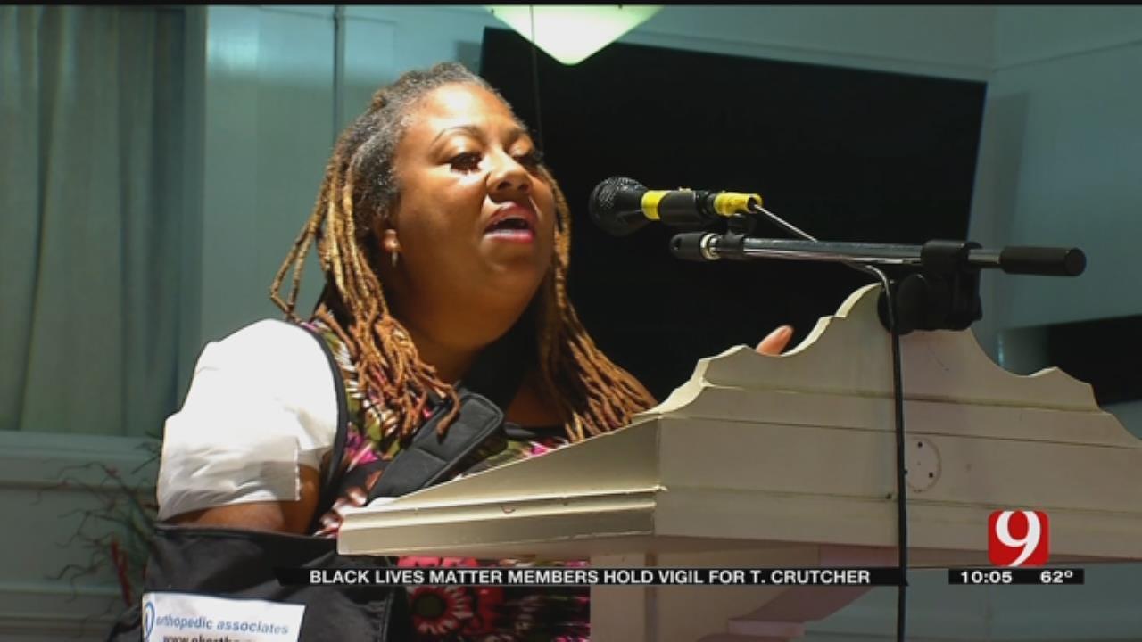 'Black Lives Matter' Holds Vigil, Memorial Service For Terence Crutcher In OKC