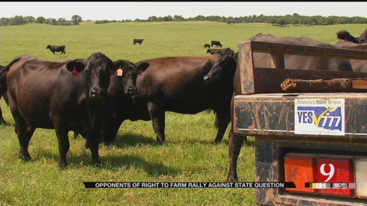 """Rally Held Against """"Right To Farm"""" State Question"""