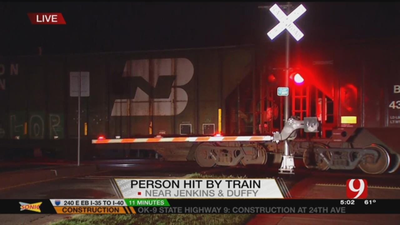 Person Hit By Train In Norman