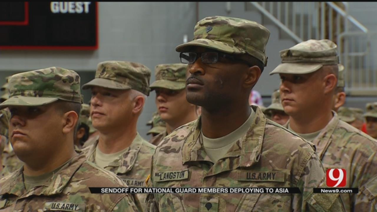 Ceremony In Mustang Honors Soldiers Headed To SW Asia
