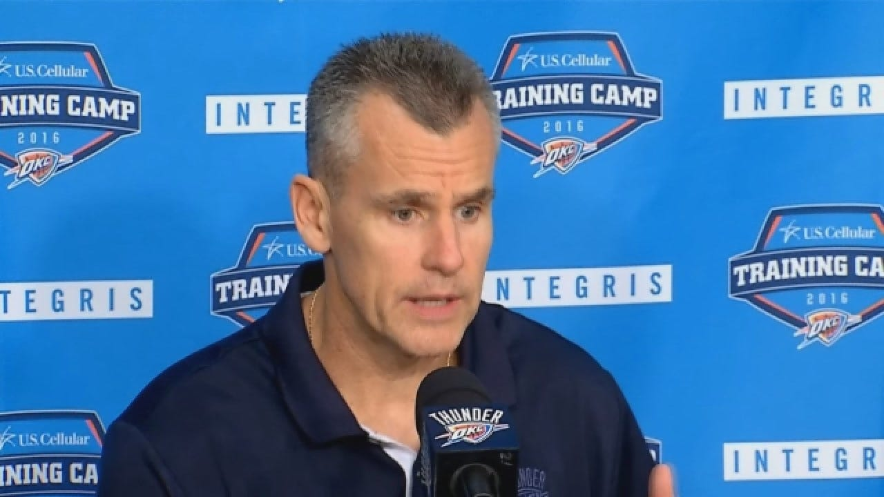 Thunder Head Coach Billy Donovan Talks At Media Day
