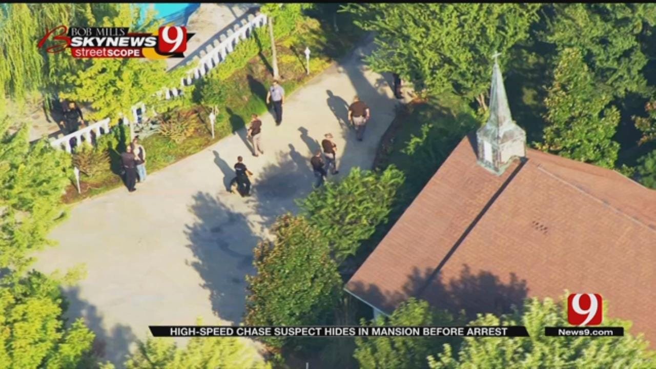 Car Chase Suspect Arrested After Hiding In Mansion