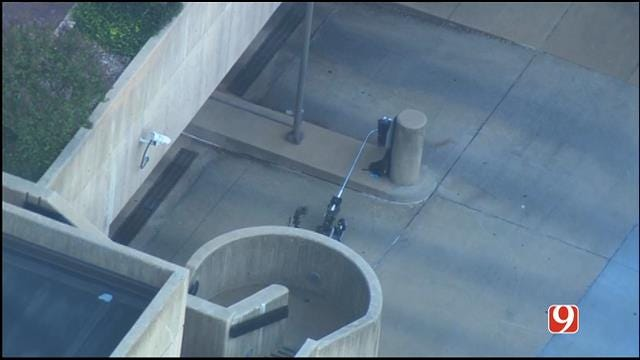 WEB EXTRA: SkyNews 9 Flies Over Bomb Squad Investigation In Downtown OKC