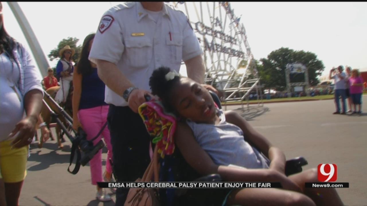 Paramedics Take Wheelchair-Bound Girl Out For State Fair Fun