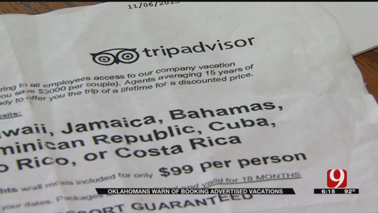 Oklahoma Family Warns Others Of Booking Advertised Vacations