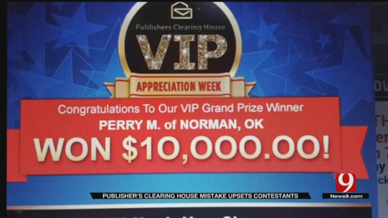 Publishers Clearing House Says It Mistakenly Sent Oklahomans Winning Emails