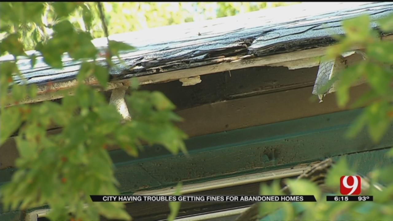 OKC Having Trouble Getting Fines For Abandoned Homes