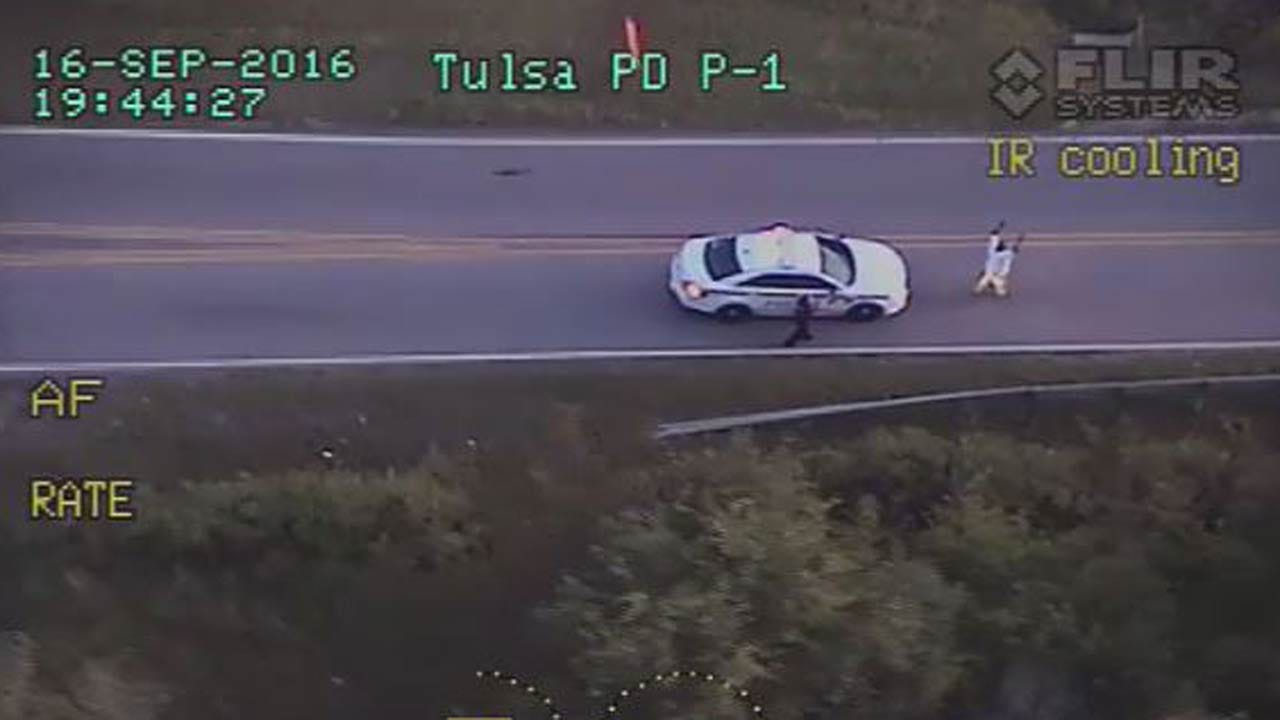 WEB EXTRA: Tulsa Police Officer Flies Over Deadly Officer-Involved Shooting