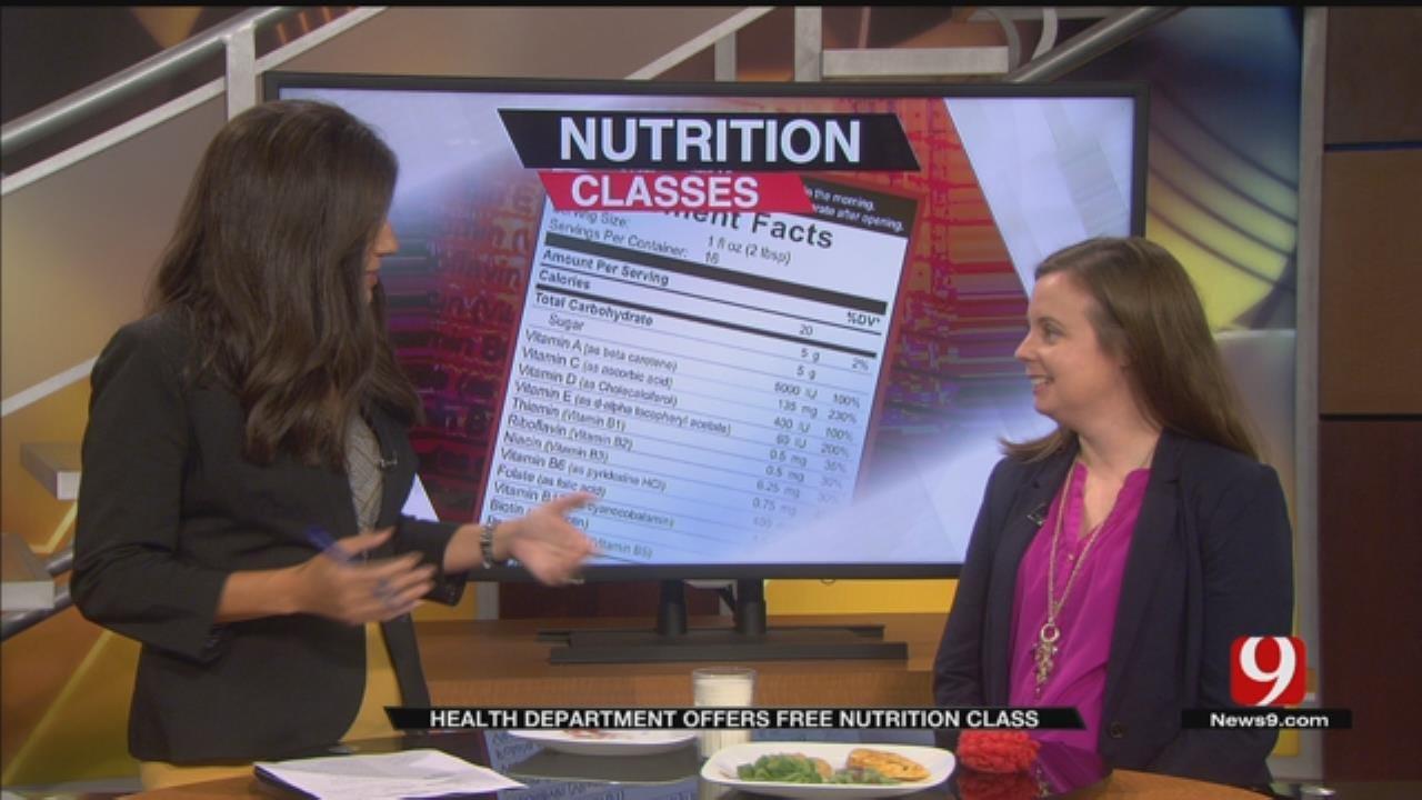OKC Co. Health Dept. Offers Free Nutrition Class