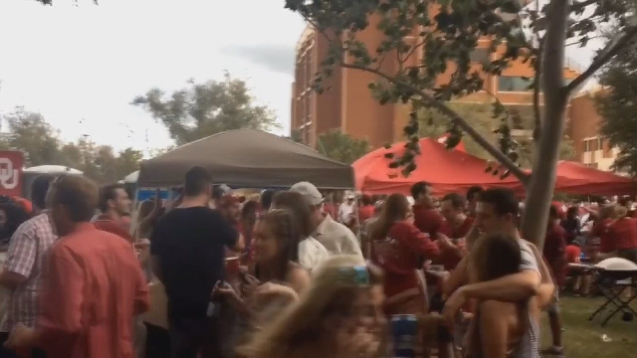 WEB EXTRA: Weather Sneaks Up On Tailgaters At OU-Ohio State Game
