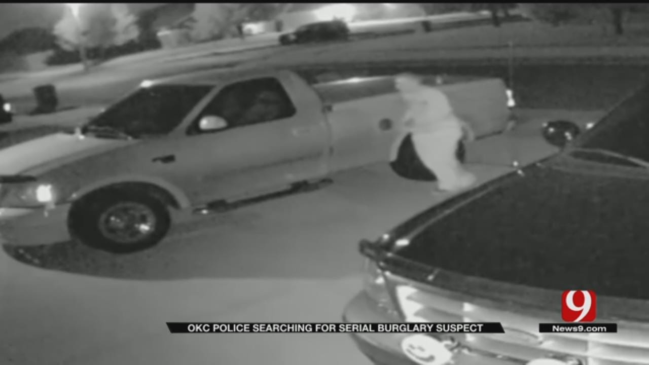 OKC Homeowner's Surveillance Video Shows Serial Burglary Suspect In The Act