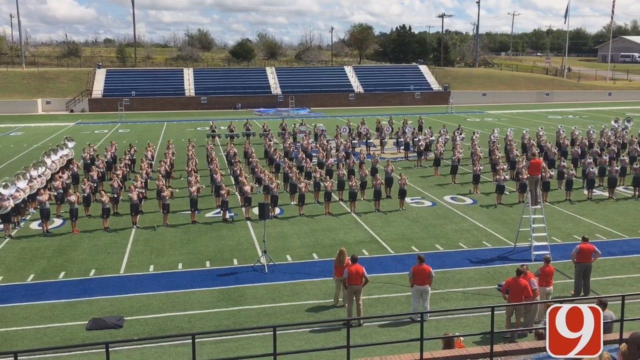 WEB EXTRA: Ohio State University Band Tuning Up At Noble High School
