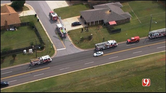 WEB EXTRA: SkyNews 9 Flies Over Scene Of Duplex Fire In NW OKC