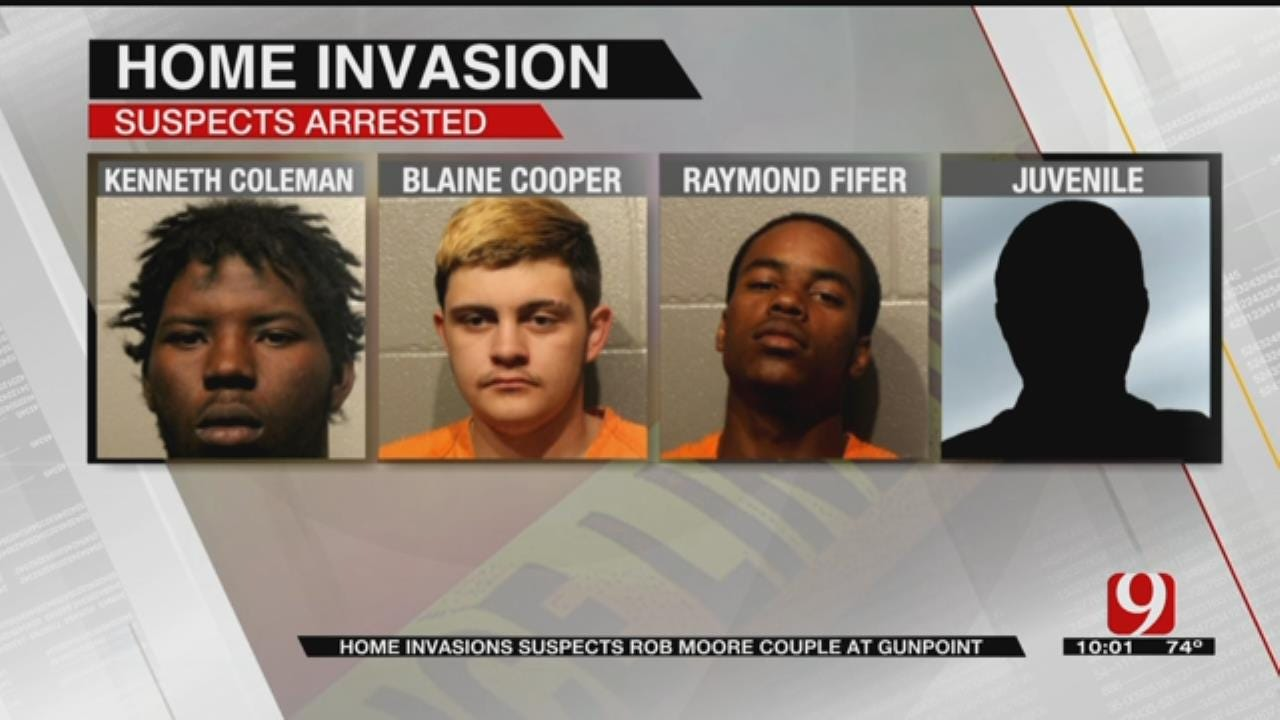Police: Home Invasion Suspects Rob Moore Couple At Gunpoint