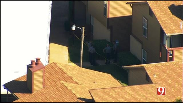 WEB EXTRA: SkyNews 9 Flies Over Shooting Investigation At NW OKC Apartment Complex