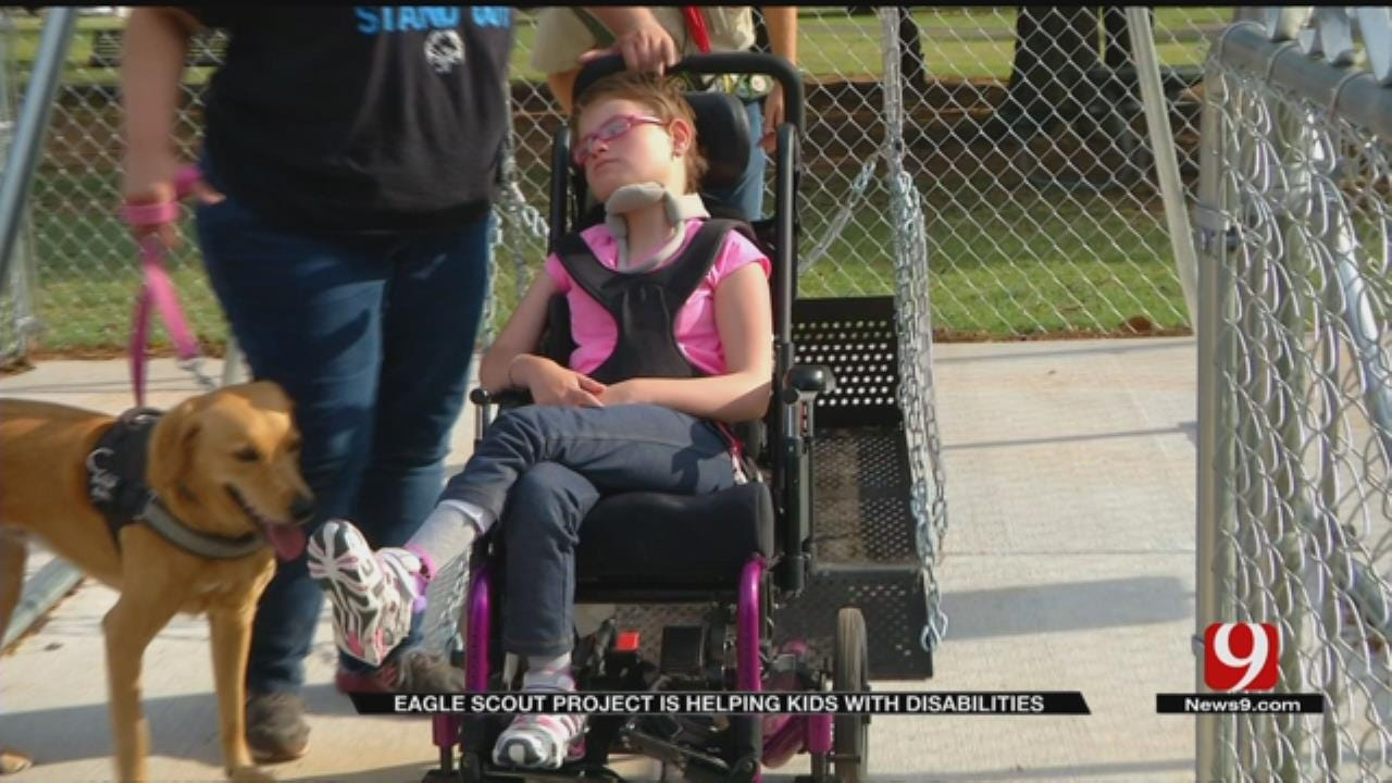 Boy Scout Puts Wheelchair Swing In Mustang