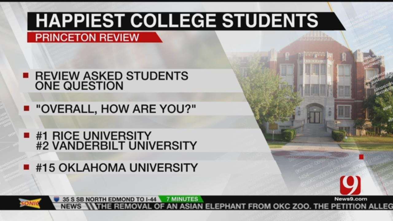 OU Lands Among Nation's Happiest Students
