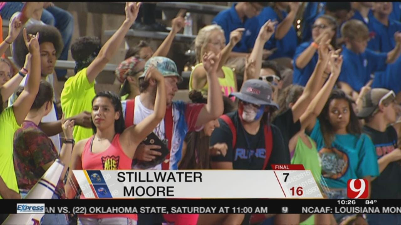 Moore Holds Off Stillwater