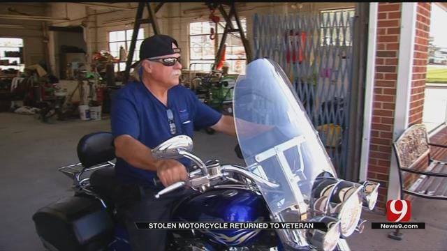 Stolen Motorcycle Returned To Vietnam War Veteran
