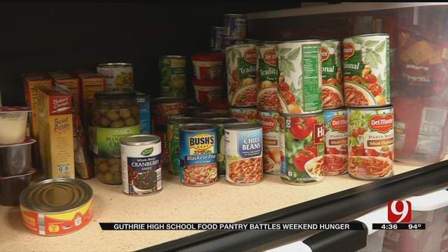 Guthrie High School Food Pantry Battles Weekend Hunger