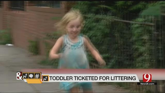 Trends, Topics & Tags: Toddler Fined For Littering
