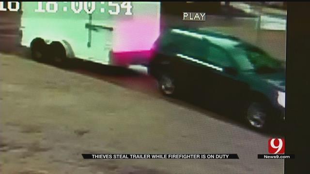 Thief Steals OKC Firefighter's Trailer
