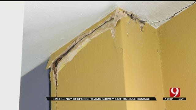 Structural Engineer Inspects Damage In Pawnee Nation Buildings