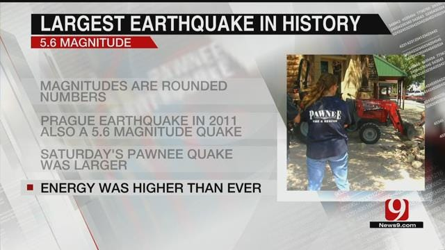 Pawnee Earthquake Officially The Largest In State History