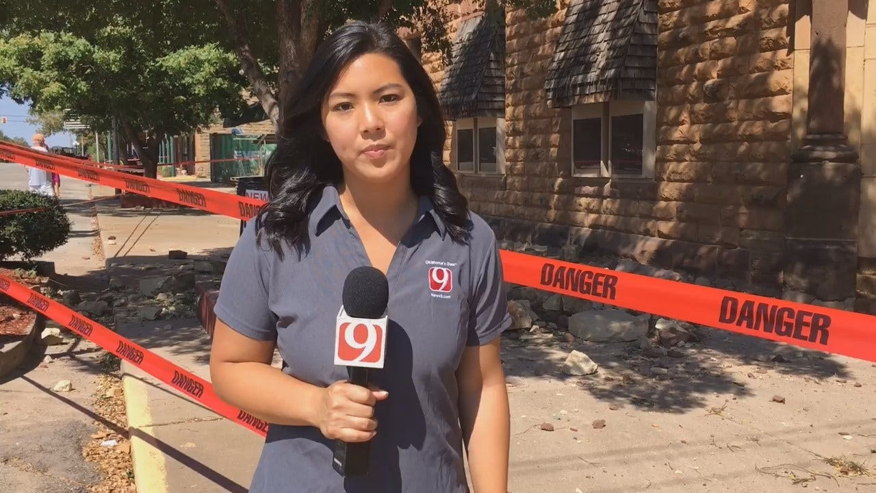 WEB EXTRA: News 9's Tiffany Liou In Pawnee After Earthquake