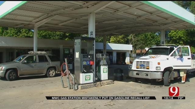 MWC Gas Station Mistakenly Put On Gas Recall List