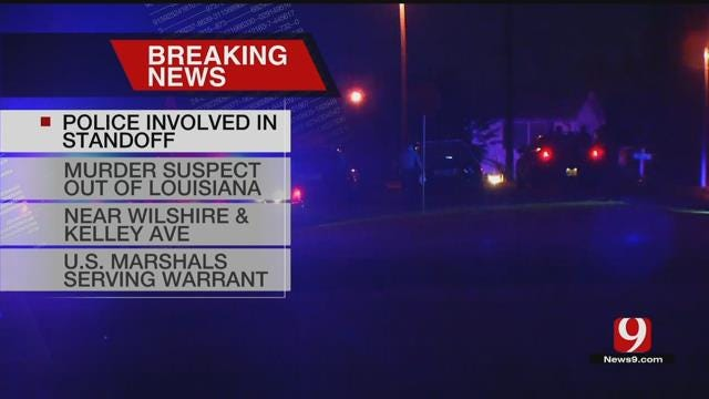 OKC Police Involved In Standoff With Possible Louisiana Murder Suspect