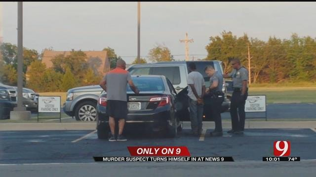 Only On 9: Murder Suspect Turns Himself In At News 9