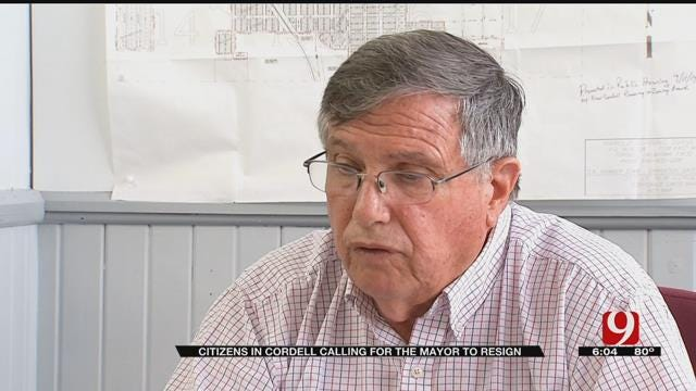 Citizens In Cordell Calling For Mayor To Resign