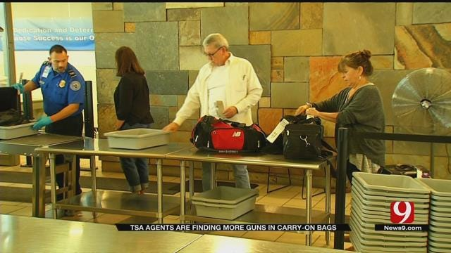 TSA Agents Finding More Guns In Carry-On Bags At Will Rogers Airport