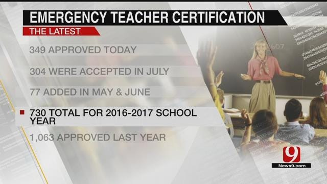 OK School Board Approves Hundreds More Emergency Teaching Certifications