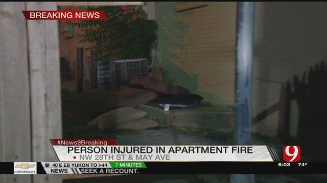 Officer Catches Child Thrown From OKC Apartment Window During Fire