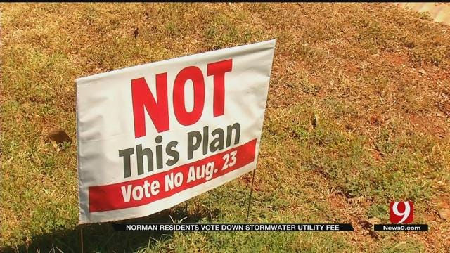Norman Residents Vote Down Stormwater Utility Fee