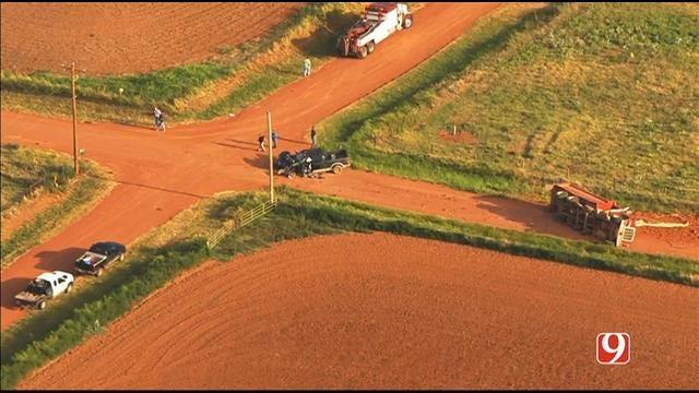 WEB EXTRA: SkyNews 9 Flies Over Deadly Crash North Of Okarche