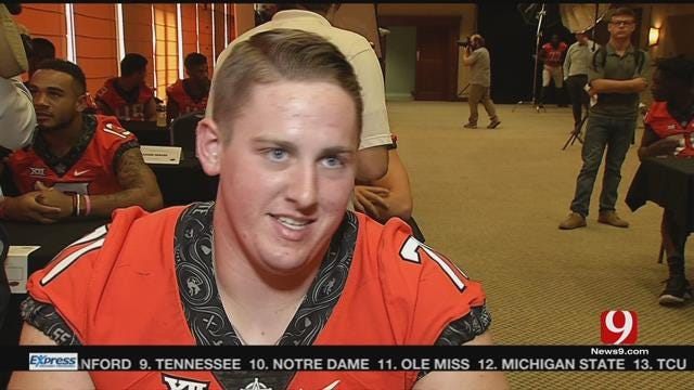 OSU's Brad Lundblade is the Anchor of Offensive Line