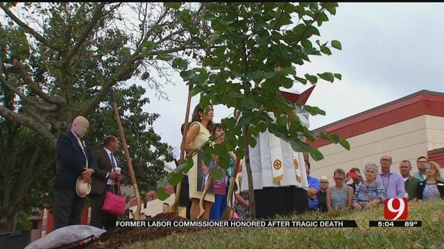 Memorial Tree Planted In Honor Of Slain OK Labor Commissioner