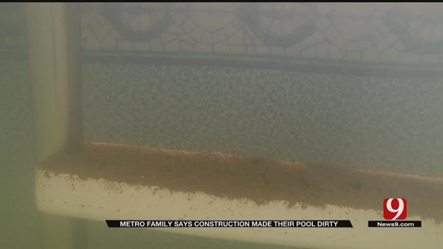 Family Says Nearby Road Construction Damaged Their Pool