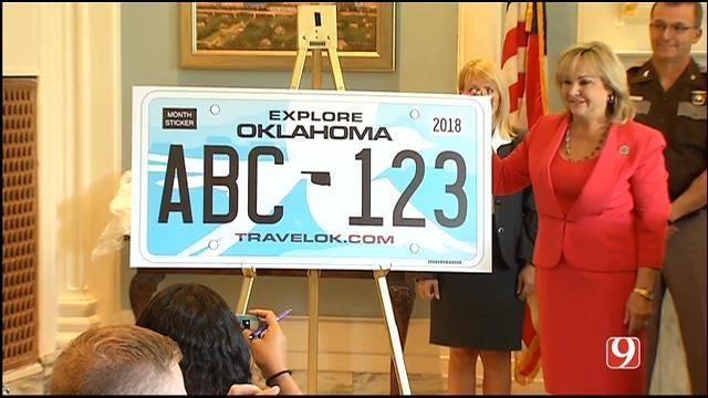 WEB EXTRA: Gov. Fallin Unveils New OK License Plate