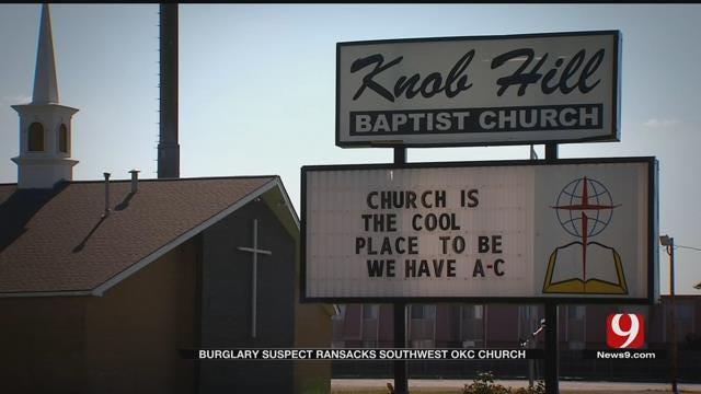 Burglar Ransacks Southwest OKC Church, Steals Van