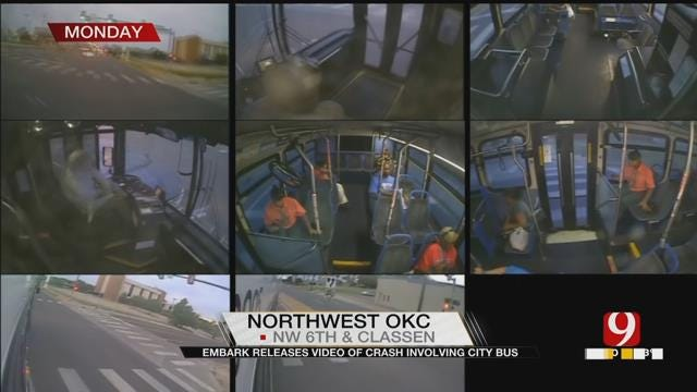 Authorities Release Surveillance Video In City Bus Crash Near Downtown OKC