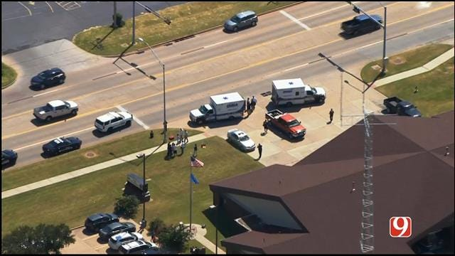 WEB EXTRA: SkyNews 9 Flies Over Auto-Ped Crash Involving Children In Mustang