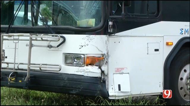 WEB EXTRA: News 9 On Scene Of City Bus Crash Near Downtown OKC