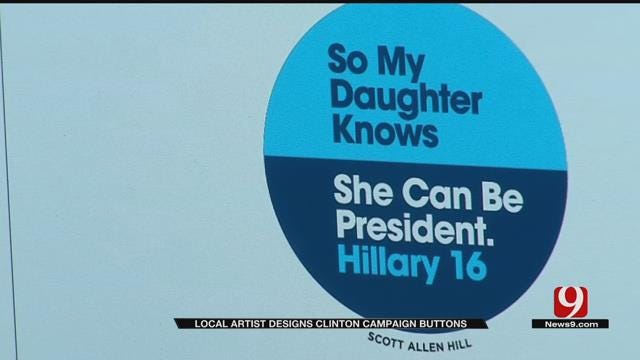 OKC-Based Artist Chosen To Create Hillary Clinton Campaign Button