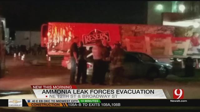 Ammonia Leak Prompts Evacuation Overnight At Vaughan Foods In Moore