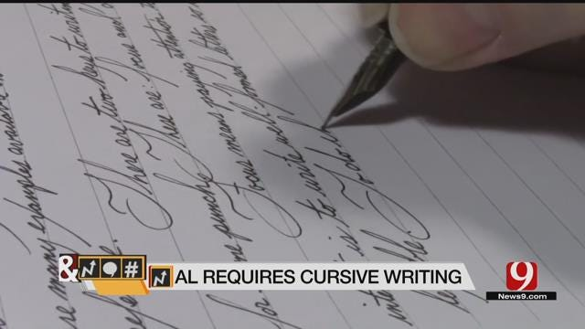 Trends, Topics & Tags: Alabama Schools Require Cursive Writing Classes
